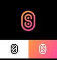 s monogram logo rounded stripes gradient vector image