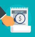 salary report concept background flat style vector image vector image