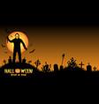 serial killer in a graveyard vector image vector image