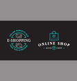 set e-commerce online shopping signs with icons vector image vector image