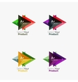 Set of triangle infographic layouts with text and vector image vector image