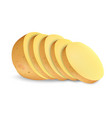 sliced potato mockup realistic style vector image vector image