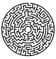 solvable circular maze element isolated on white vector image vector image
