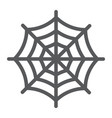 spider web line icon halloween and decoration vector image vector image