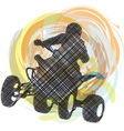 Sportsman riding quad bike vector | Price: 1 Credit (USD $1)