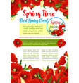 spring season flower greeting poster template vector image