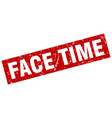 square grunge red face time stamp