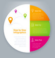 step infographics template vector image