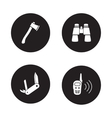 Survival equipment black icon set vector image vector image