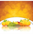 thanksgiving frame vector image vector image
