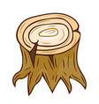 tree stump with roots isolated vector image