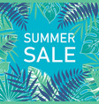 tropical summer sale poster vector image vector image
