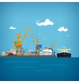 Unloading Oil from the Tanker vector image vector image
