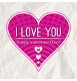 valentines day greeting card with heart vector image vector image