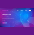 website landing page template vector image vector image
