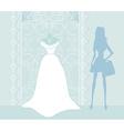 Wedding dress salon vector image