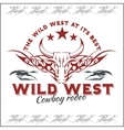 Wild west - cowboy rodeo emblem vector image vector image