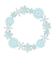 Winter snowflakes wreath vector image vector image