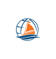 yacht tour vacation vector image
