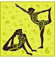 yoga green background vector image