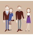 Man and woman holding hands Fashionable couple vector image