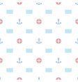 a graphic endless pattern with a marine theme vector image