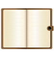 A leather notebook on white background vector image vector image