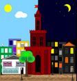 abatract multicolor image of the city day and vector image