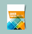 abstract report cover 13 vector image vector image