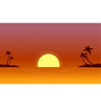 At sunset on seaside landscape vector image vector image