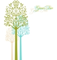 background with spring trees vector image vector image