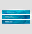 banners with abstract geometric blue vector image vector image