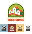 Big house - logo concept vector image vector image