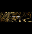 black and gold marble texture abstract marble vector image vector image