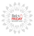 black friday shoes sale vector image