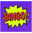 bright speech bubble with bingo text vector image