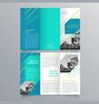 brochure design 869 vector image vector image
