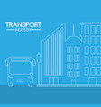 bus transport industry vector image