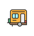 camping trailer caravan camper flat color vector image
