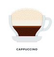 cappuccino coffee flat isolated vector image
