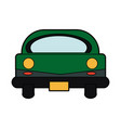 car icon front vehicle transport on white vector image