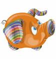 cartoon blue eyed funny pig vector image vector image