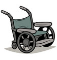cartoon metal wheelchair icon vector image vector image