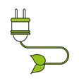 color silhouette image cartoon green plug vector image vector image