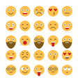 colored flat icons emoticons smile with a vector image vector image