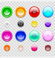 colorful sewing buttons icons photo realistic set vector image