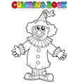 coloring book with happy clown 9 vector image