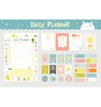 Cute Calendar Daily Planner vector image