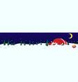 drunk santa claus banner vector image