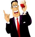 drunkard vector image